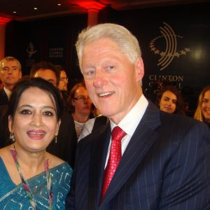 Selima Ahmad with Bill Clinton At 8th Annual CGI meeting