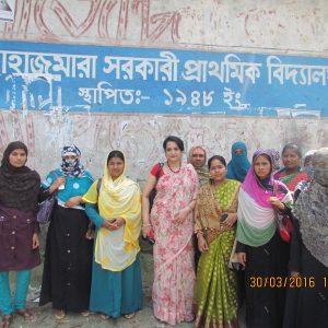 Site visit for solar pumping at Jahajmara Union, Hatiya