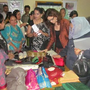 Visiting the women entrepreneur's stall in a fair with the Honorable High Commissioner of Canada
