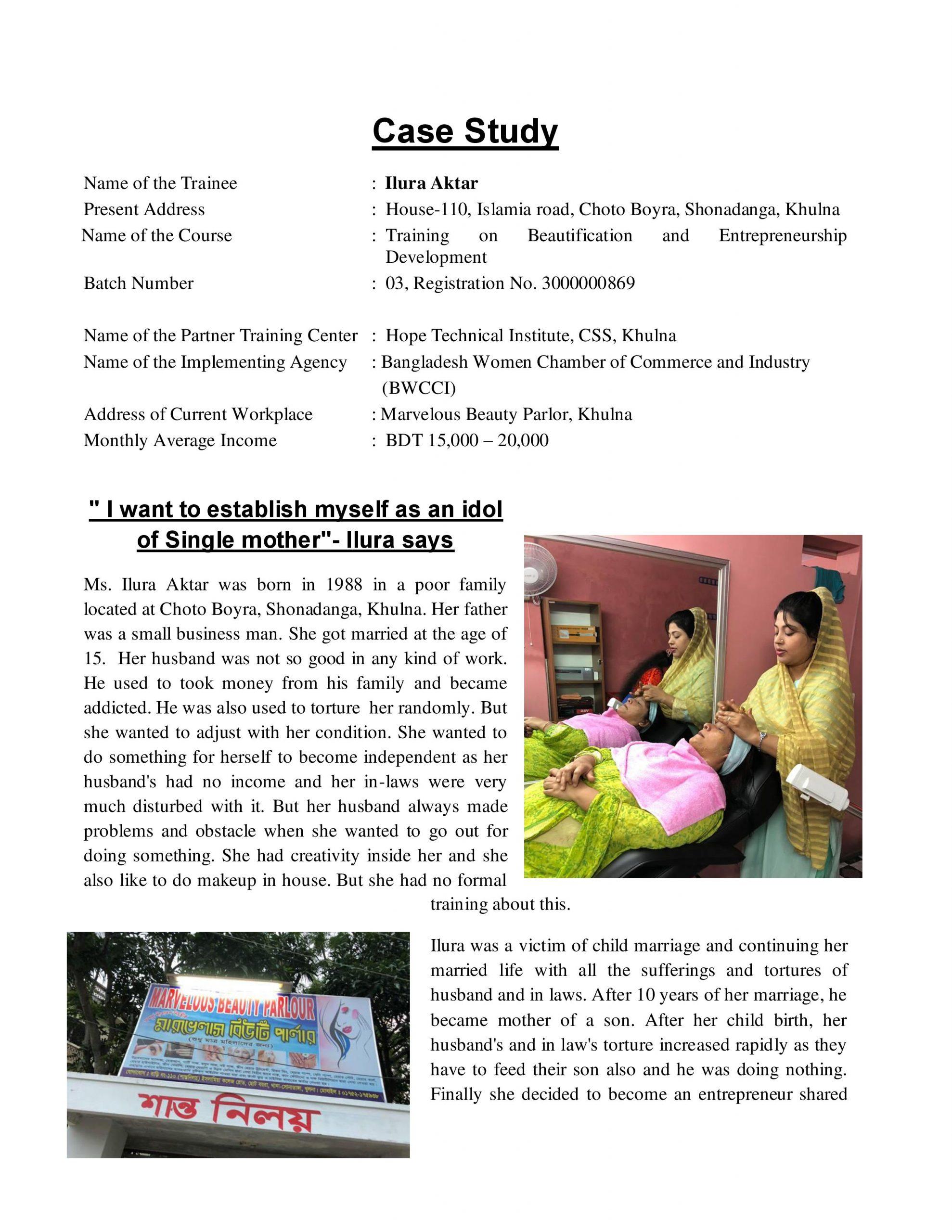 Success story of Ilura Aktar- BP-HTI-Khulna_1