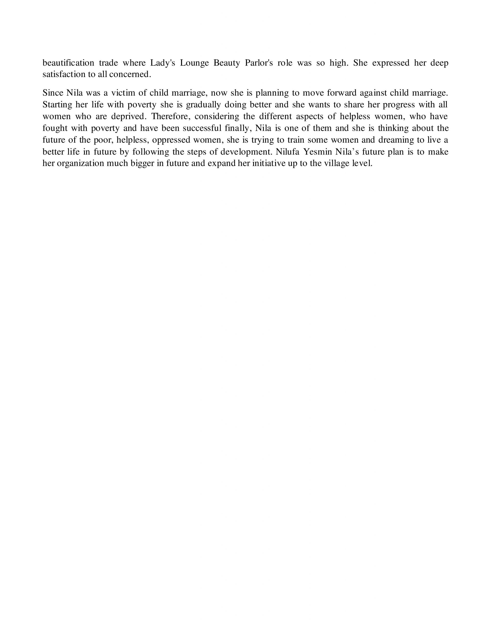 Success story of Nilufar Yesmin- BP- Sylhet_3